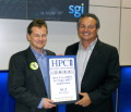 Franz Aman, CMO of SGI accepts the Reader's Choice Award for Best use of HPC in 'edge HPC' application