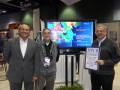 Tom Tabor presenting PSC Scientific Directors Ralph Roskies and Michael Levine with the Readers Choice award for Best use of HPC in